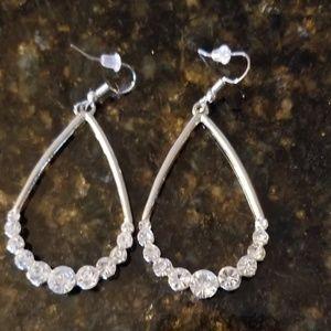 Tear Drop Crystal Earrings  NWT